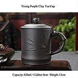 420ml Yixing Púrpura Clay Taza De Té con Tapa Hecha A Mano Cerámica Kung Fu Set Office Master Taza De Té Leche Café Agua Taza Bebidas C