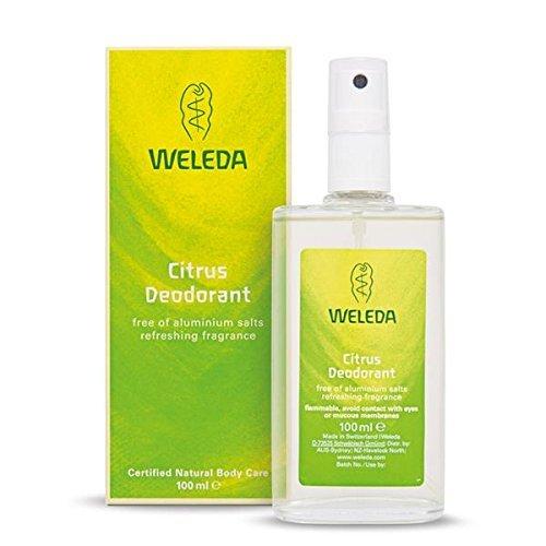 WELEDA Citrus Deodorant, natürlich frisches Naturkosmetik Deo mit ätherischen Ölen, wirkt desodorierend ohne Poren zu verschließen, Körperspray mit belebender Brise ohne Aluminium (1 x 100 ml)