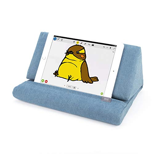 IPEVO PadPillow Pillow Stand for iPad Air & iPad 4 & iPad 3 & iPad 2 & iPad 1 & Nexus & Galaxy - Blue Denim