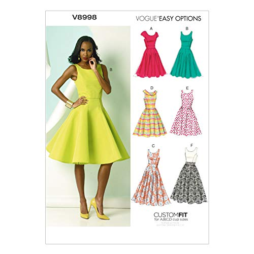 VOGUE PATTERNS V8998 Misses#039 Dress Sewing Template Size A5 68101214