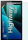 moex Klare Schutzfolie kompatibel mit Wiko Highway Star - Bildschirmfolie kristallklar, HD Bildschirmschutz, dünne Kratzfeste Folie, 3X Stück