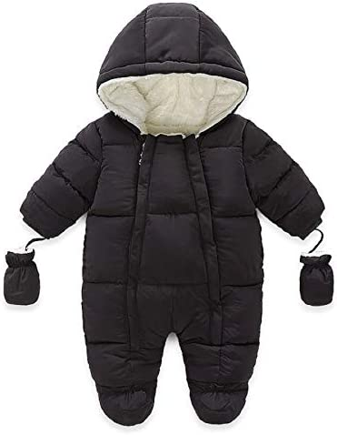 MiliMaDa Baby Winter Snowsuit Coat Romper Zipper Down Outwear Hoodied Footie Jumpsuits Toddler product image