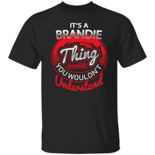 It's Brandie Thing Cotton T Shirt Personalized Name Gift for Men Women Black