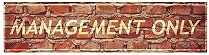12x3 Management Only Ghost Aged Brick Wind-Resistant Outdoor Mesh Vinyl Banner CGSignLab