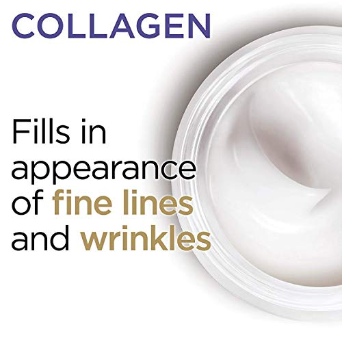 41NWpYxY2BL - Collagen Face Moisturizer by L'Oreal Paris Skin Care, Day and Night Cream Fragrance Free, Anti-Aging Face, Neck and Chest Cream to smooth skin and reduce wrinkles, 1.7 oz