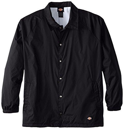 Dickies Men's Big Snap Front Nylon Jacket, Black, 4X