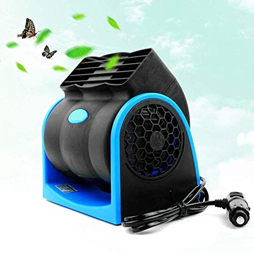 Tragbarer 12V 7W Elektro-Auto Bladeless Fan Fahrzeug Auto Auto Kühlluftgebläse 2 Geschwindigkeit Einstellbare Low Noise Quiet Cooler Ventilator-Auto-Fans Sommer Kühlung Luft Zirkulator Windy leicht zu