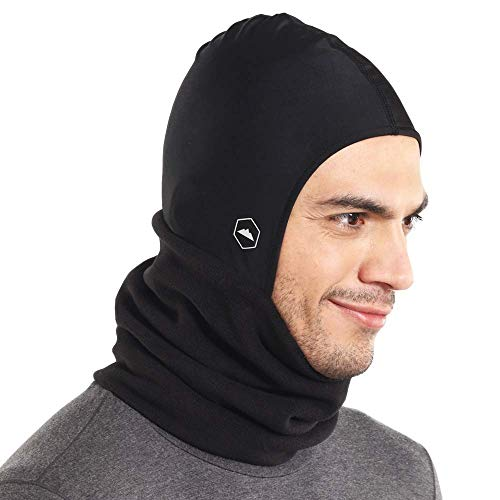 Balaclava Ski Mask - Fleece Neck Warmer w/Helmet Liner Hood - Winter Face Cover for Skiing, Snowboarding & Motorcycle Riding