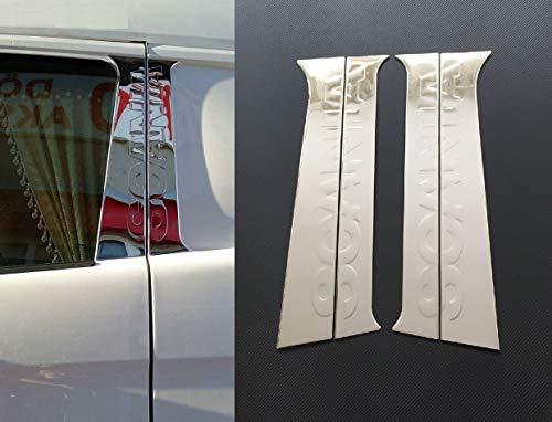 4 tapas de pilar de acero inoxidable cromado en relieve para camiones...