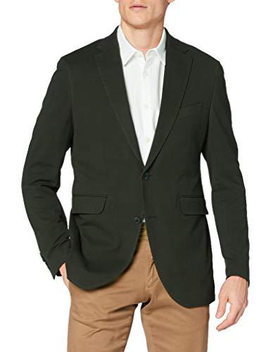 Hackett London Pique Knit Chaqueta, Verde, 36 Short para Hombre