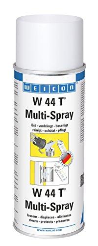 WEICON W 44 T Multispray | 400ml | Das Multifunktionsöl ist universal einsetzbar / Kriechöl / Starterspray / Rostlöser / Rostschutz / Kettenspray / Waffenöl uvm.