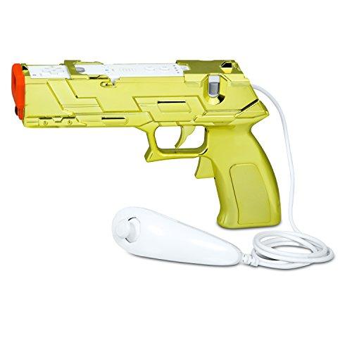 dreamGEAR Quick Shot Plus Dual Trigger Light Gun- Gold Edition