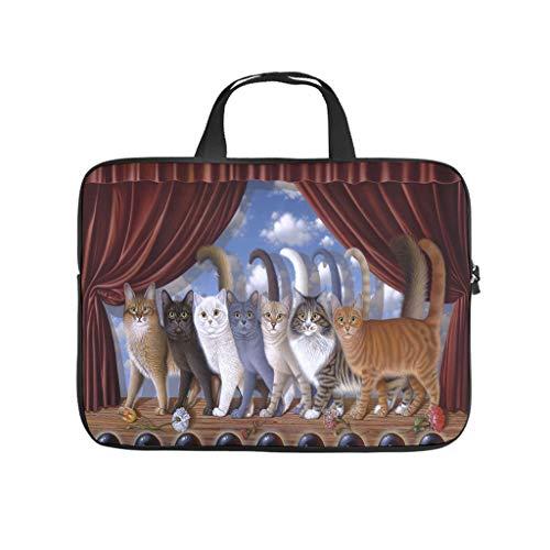 Cute Cat Choir Laptop Bag Waterproof Laptop Protective Bag Design Notebook Bag for University Work Business