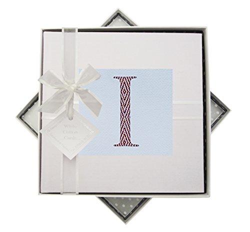 White Cotton Cards Alphabetics Initiale I Album Photo, Multicolore, Medium
