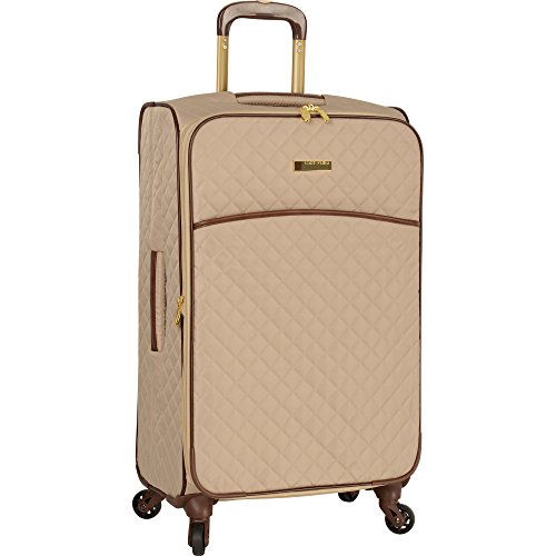 Anne Klein 21' Expandable Softside Spinner Carryon Luggage, Tan Quilted