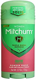 Mitchum For Women Triple Odor Defense Invisible Solid Antiperspirant & Deodorant 2.70 oz (Pack of 6)