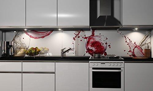 More Design Küchenrückwand-Folie selbstklebend | Virgin | Klebefolie in verschiedenen Größen | Fliesenspiegel | Dekofolie | Spritzschutz | Küche | Möbel-Folie