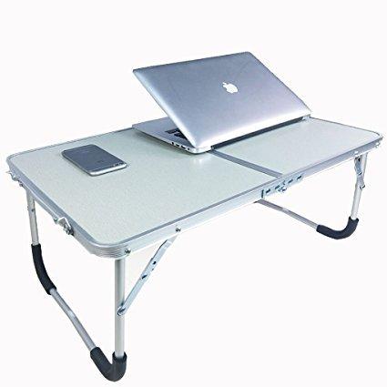 Gran mesa de cama ordenador ajustable soporte para portatil escritorio PC inclinable bandeja de desayuno Tablet lectura libros debout con patas plegable para cama sofa jardin parque