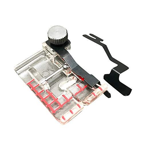 Austin Janome Set doorzichtige borduurvoet voor naaimachine met geleiding, metaal, 14 x 9,5 x 2,3 cm