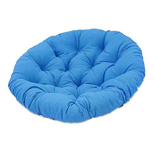 Almohada Colgante para, Silla Mecedora con Correa Fija Suave, Acolchado de algodón a Menudo para Colgar Forma de Hamaca marrón,Azul