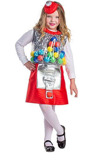 u s toy kids halloween costumes Dress Up America Gumball Machine Costume - Size Toddler 4