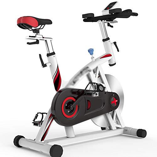 Hometrainer voor binnen, fiets voor fietsen Stationair met hartslagmeter en LCD-monitor Traploze weerstandsaanpassing en grote vliegwielfiets