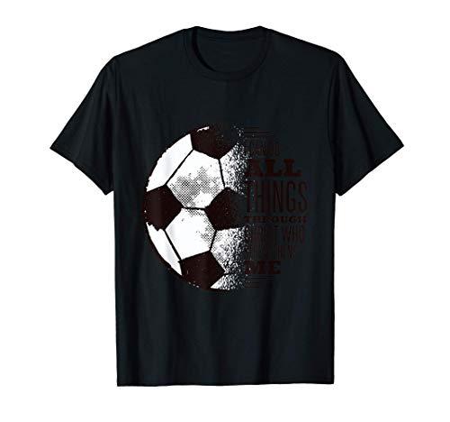 Amante del fútbol cristiano, Cristo me fortalece Camiseta