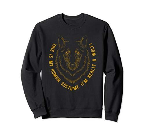 Howling Wolf Gesicht Kunst Farben Wölfe Geschenke Sweatshirt