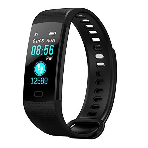 YUYLE Smartwatches Smart Band Hartslag-bloeddrukmeter hoge helderheid kleurrijk beeldscherm Smart Bracelet Wristband Notification, zwart
