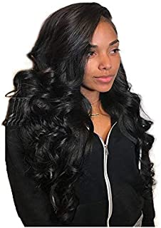 JYL Hair 360 Lace Frontal Wig Loose Wave Pre Plucked Hairline Bleached Knots Brazilian Virgin Hair Wig Human Hair Lace Wigs Glueless 180% Density with Baby Hair for Black Women (20'', natural color)
