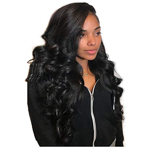 JYL Hair 360 Lace Frontal Wig Loose Wave Pre Plucked Hairline Bleached Knots Brazilian Virgin Hair Wig Human Hair Lace Wigs Glueless 180% Density with Baby Hair for Black Women (10