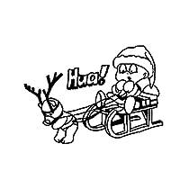 3個の車のステッカーとデカール17.8CM * 12.6CMクリスマスデカール面白いステッカー新しいドライバーカーバンパーステッカー学習者ドライバーギフト