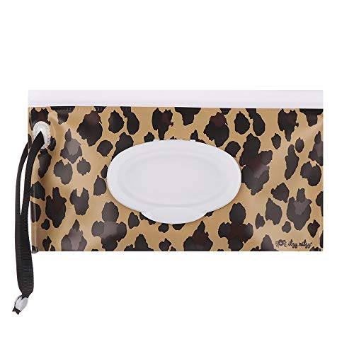 Botón de tarjeta Suministros para bebés Seller automático Maquillaje. Caja de servilletas Caja de servilletas Bolsa húmeda(leopard pattern)