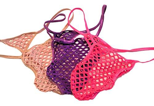 SWIC Men's Exotic G String Thong BIG HOLE FISH NET