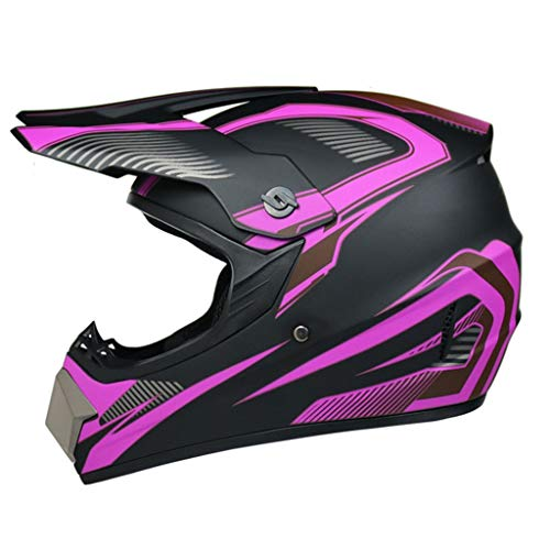 Adult Unisex Full Face Motocross Helmet with Goggles Gloves Scarf, DOT Approved Cool Personality ATV Dirt Bike BMX MX Off-Road MTB Mountain Bike Helmet