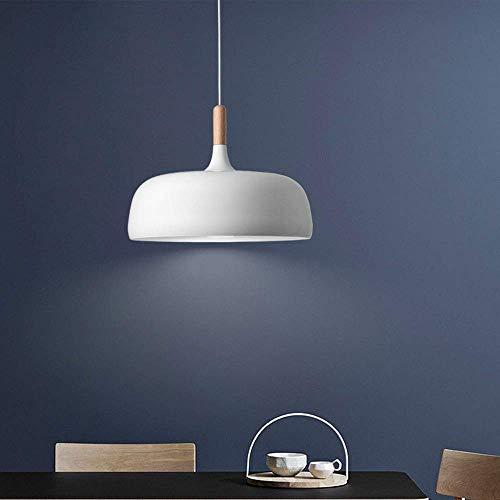 miwaimao Lámpara de araña Nordic minimalista estilo restaurante moderna y creativa, de metal, para despachos, bares, cafeterías, iluminación de techo colgante, lámpara LED de cabeza única