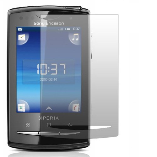 Slabo 2 x Displayschutzfolie kompatibel mit Sony Ericsson Xperia X10 Mini Pro Displayschutz Schutzfolie Folie Crystal Clear unsichtbar X-10 Made IN Germany