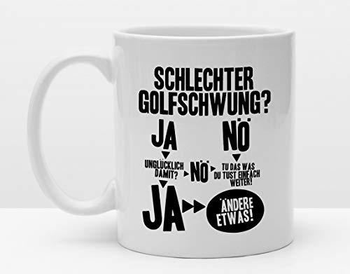 Sportler Tasse | Golf | Schlechter Golfschwung | Tasse für Golfer | Lustiges Golfgeschenk für Golfspieler Golflehrer | GolfPro | Golfclub