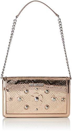Love Moschino Borsa Embossed Tpu Rame, Sacs portés épaule femme, Marron (Copper), 5x13x22 cm (B x H T)