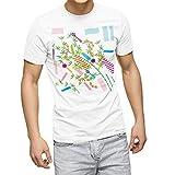 igsticker プリント Tシャツ メンズ XL サイズ size おしゃれ クルーネック 白 ホワイト t-shirt 013867 七夕 短冊