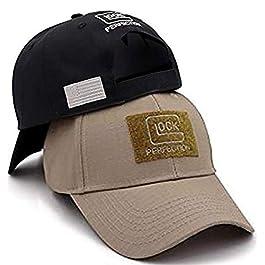 QOHNK Tactique Glock Shooting Sports Casquette de Baseball Casquette de Pêche Hommes en Plein air Chasse Jungle Hat…