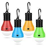 Molbory Camping LED Campinglampe mit Karabiner Camping Lantern 4 StückeTragbare Zeltlampe...