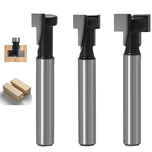 6mm Schaft T-Slot Cutter Router Bit Set...