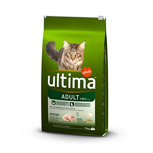 Ultima Pienso para Gatos Adultos con Pollo - 7,5 kg [paquete de 2 - 15 kg total]