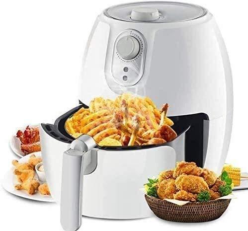 WZLJW 2.8QT air Four friteuse cuiseur à Riz sans Huile, friteuse en Acier Inoxydable, Le Bouton de Commande poignée Anti-échaudage/Grill Amovible/Facile à Nettoyer la friteuse ggsm