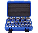 Hycy 21 Unids/Set 8-36MM Multi-Tooth Socket Llave De Zócalo Hembra Multi-Tooth Nuts Heavy Duty Socket Set Durable Herramienta De Reparación para Bicicleta