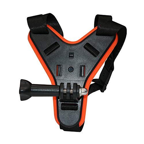 Cicony - Soporte de mentonera delantero para casco de moto para GoPro Hero 8/7/6/5/4/3 para DJI Osmo Action, color naranja