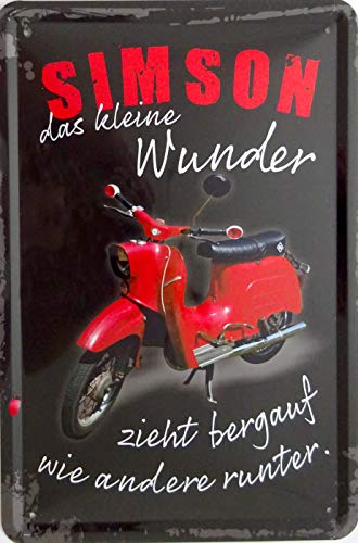 vielesguenstig-2013 Blechschild Schild 20x30cm - Simson das kleine Wunder Moped Schwalbe DDR