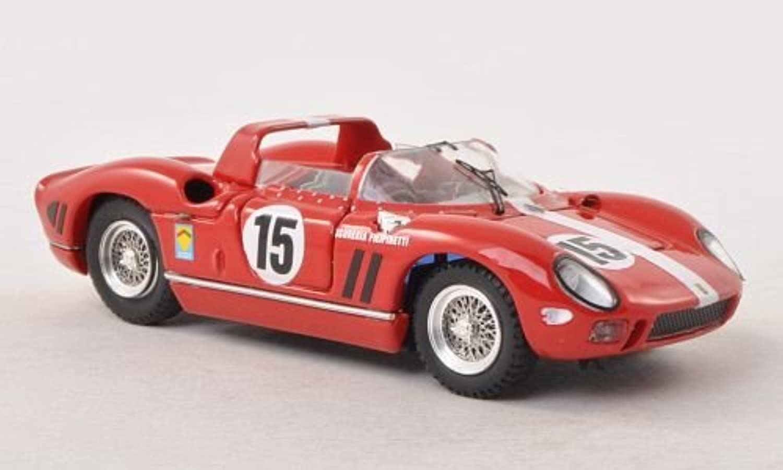 gran selección y entrega rápida Ferrari 330 P, No.15, scuderia Filipinetti, 24h Le Mans Mans Mans - prueba , 1964, Modelo de Auto, Modello compLeto, Art Model 1 43  hasta un 60% de descuento