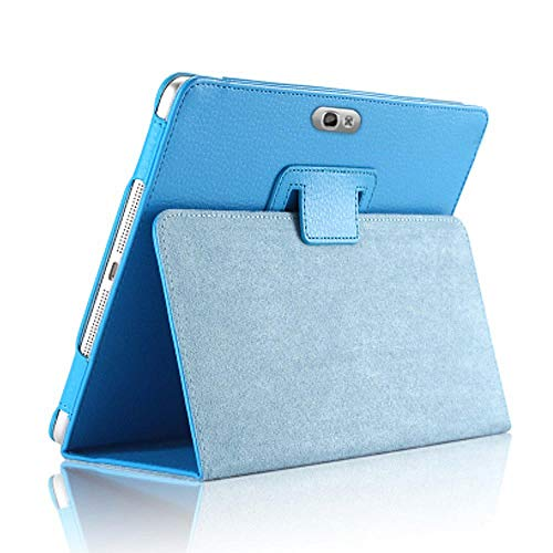 GT-N8000 N8000 N8010 N8020 PU Funda de Cuero para Samsung Galaxy Note 10.1 2012 Release N8000 Tablet Magnet Flip Stand Cover-Cielo Azul